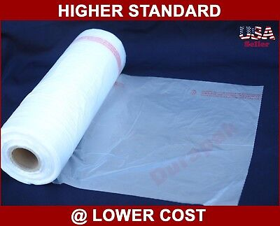 "4 Rolls 11X17"" HDPE Clear Produce Grocery Supermarket Fruits Food Vegetable Bag"
