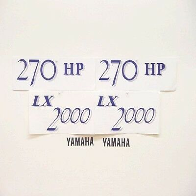 YAMAHA LX 2000 JET BOAT DECAL KIT (Set of 6) decals