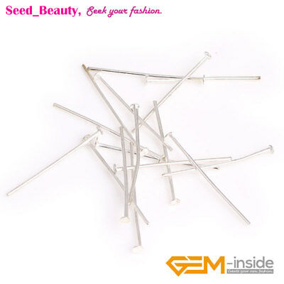 500x Silver Plated Head Pins Length:35mm  Pin Diameter: 1mm Jewelry Making Pins