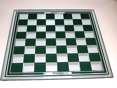 Personalized Laser Engraved Chess/Checker Mirror Board (Please See Notice Below)