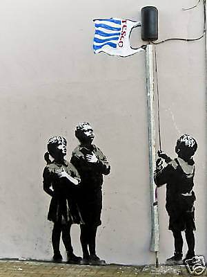 Quality Banksy Art Photo Print (In Tesco We Trust)