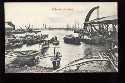 Ceylon COLOMBO Harbour early  PPC