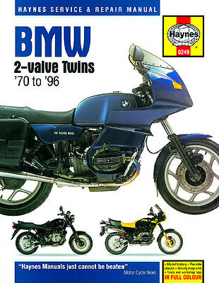 Haynes Manual 0249 - BMW R80GS, R80RT, R80ST, R100GS, R100RT, R100ST, R90/65/75