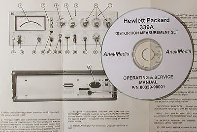 HP 339A  Distortion Measuring Set Ops & Service  Manual