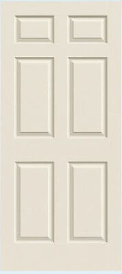 Colonist 6 Panel Raised Molded Primed Solid Core Wood Composite Doors - Prehung