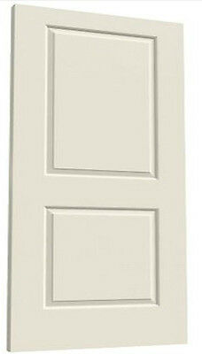 Cambridge 2 Panel Square Primed Molded Solid Core Wood Composite Doors - Prehung