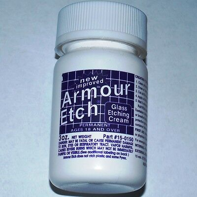 3 oz Bottle Armour Etch Glass and Mirror Etching Cream ((( GOOD TRIAL SIZE )))