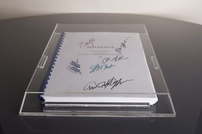 DISPLAY CASE for signed Movie or TV script. Clear Base.
