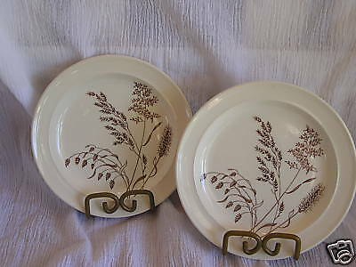 J G Meakin England Windswept Wheat Dessert Salad Bread Plate Dish Vintage China