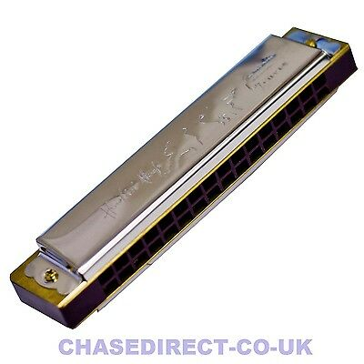 Chase Diatonic Tremolo Harmonica C Major 16 Hole 32 Tones Mouth Organ Blues Harp