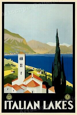 16x24 1939 Cruise the Great Lakes Vintage Style Travel Poster