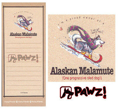 ALASKAN MALAMUTE Funny Magnetic NOTEPAD List Note Pad