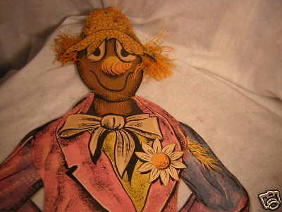 OLD BEISTLE JOINTED SCARECROW PAPER VINTAGE HALLOWEEN 4 FT