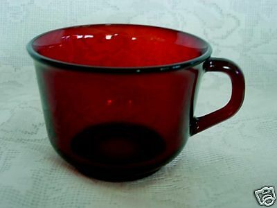 Beautiful Vintage Ruby Red Glass Cup - Made in France - MORE AVAILABLE!