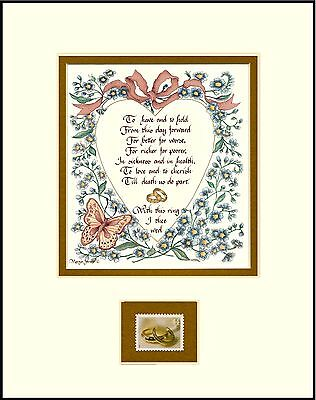 ST083 WEDDING VOWS, To Have & To Hold w/09 LOVE STAMP