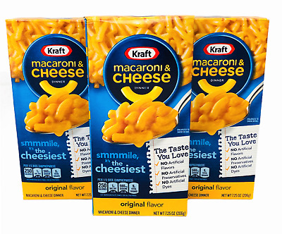 Kraft Original Macaroni and Cheese Dinners 7.25 oz 3 Boxes