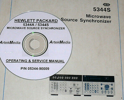 HP 5344A 5344S Synchronizer Operating & Service Manual