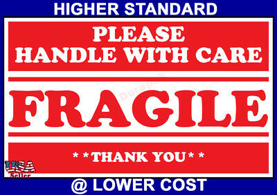 500ct 3x5 Fragile-Handle w/Care Shipping Adhesive Label