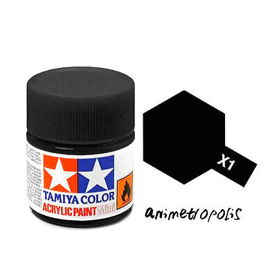 TAMIYA COLOR X-1 Black MODEL KIT ACRYLIC PAINT 10ml Free Shipping New In Stock