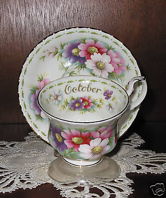 Royal Albert  FLOWER OF THE MONTH Cup/Saucer October