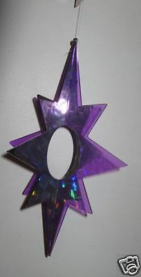 FLASHERZ Plastic SPINNER STAR Shape--PURPLE