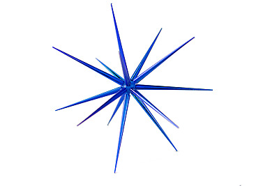 15'' Blue Starburst Ornament Hanging Blue Star Decoration Starbursts 15''