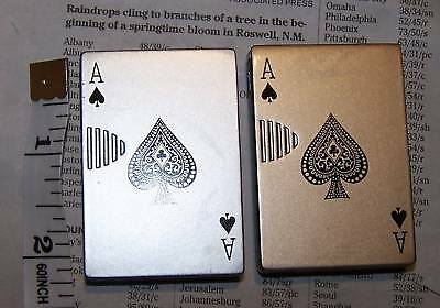 Ace of Spades Sliding Card Lighter Butane Flame Casino