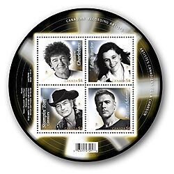 Canada 2009 Canadian Recording Artists MNH S. Sheet