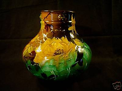 "BEAUTIFUL STANDARD GLAZE AMERICAN ART POTTERY 8""  VASE, c. 1880-1900"