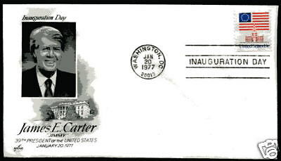 1977 Jimmy Carter Inauguration Day Cover ArtCraft, DC