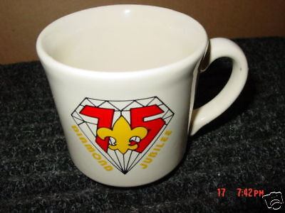 Vintage,Boy Scout,Cup,Coffee,75,Diamond Jubilee