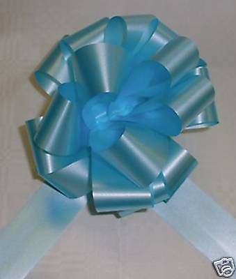 20  Pull-Bows, Pew-Ends, Tables, Cars, 50Mm  Pale Blue