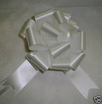 20 White Pull Bows,  Pullbows,  Pew-Ends,  Bows,   50Mm