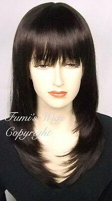 Layered Straight Wig In Dark Brown From Fumi Wigs UK