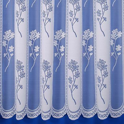 Juniper Heavyweight Jacquard Net Curtain In White - Sold By The Metre