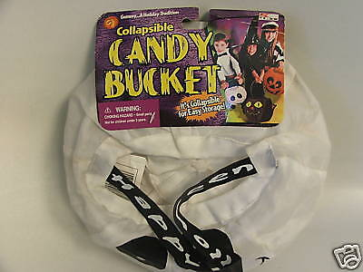 Collapseable Fabric Ghost Motif  Bucket