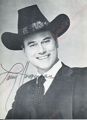 DALLAS Press Photo postcard Larry Hagman