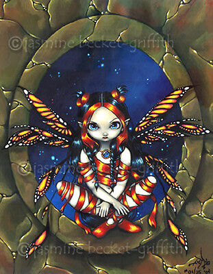Starry Night Fairy gothic fantasy fae art Jasmine Becket-Griffith CANVAS PRINT