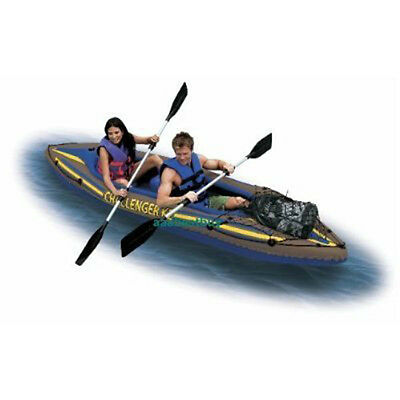 BRAND NEW IN BOX -- TWO MAN INFLATABLE KAYAK 2 person boat K2 SET