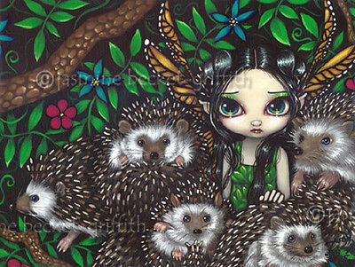 A Prickly Situation fairy hedgehog art Jasmine Becket-Griffith CANVAS PRINT