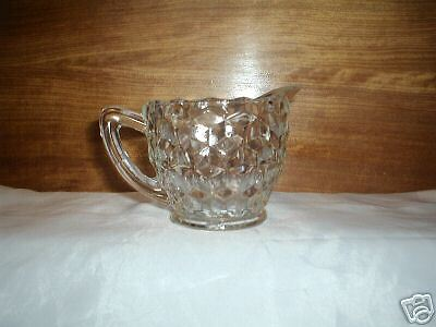 Depression Glass, Jeannette, Cube, Creamer, Crystal