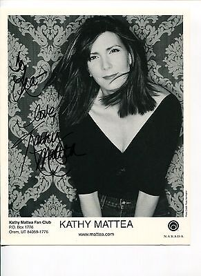 Kathy Mattea Sexy Bluegrass Country Music Singer Signed Autograph Photo
