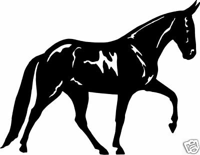 Mule Walking Equestrian Truck Trailer Decal 7""