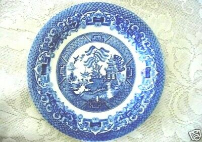 Vintage Cobalt & White Blue Willow Plate - MINT