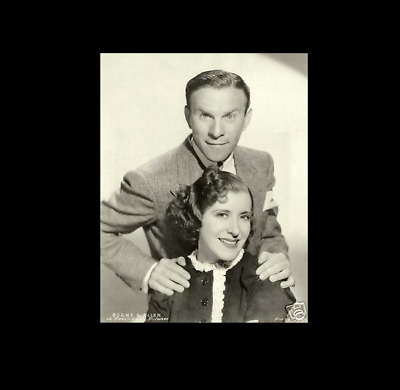 GEORGE BURNS GRACIE ALLEN 8x10 PICTURE RARE EARLY PHOTO