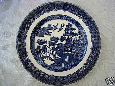 Vintage JOHNSON BROTHERS Cobalt Blue Willow Plate - Made in England