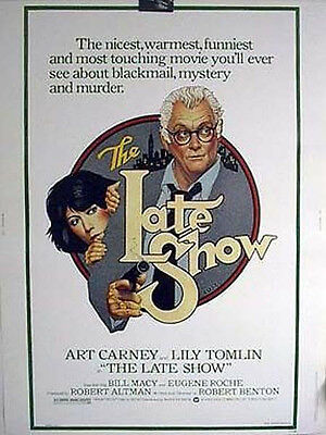RARE 30x40 Movie Poster 1977 THE LATE SHOW Art Carney