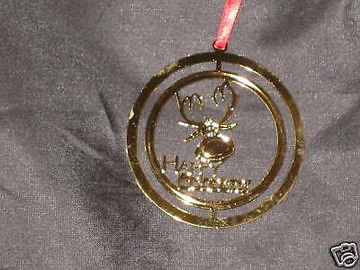 Rudolph Reindeer Christmas Happy Holidays Ornament NEW!
