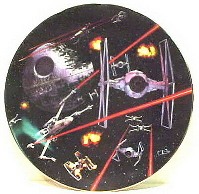 Vintage Star Wars Space Battle Ceramic Plate- FIRST SERIES!  Mint Boxed