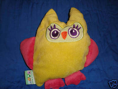 """Blankets and Beyond Yellow & Pink Owl 9"""" Baby Toy"""